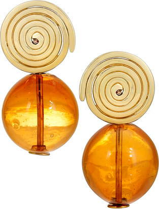 Modern Weaving Coil Globe Earrings