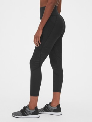 Gap High Rise Perforated Spliced 7/8 Leggings in Sculpt Revolution