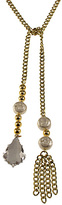 Bee Charming Pearl and Chain Lariat