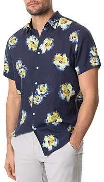 Rodd & Gunn Hopeland Linen Floral Print Regular Fit Button-Up Shirt