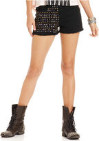 Material Girl Juniors Shorts, Studded Cut-Off