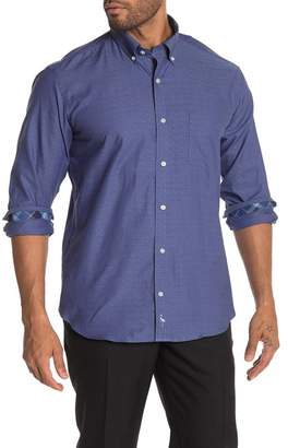 Tailorbyrd Tonal Print Long Sleeve Shirt
