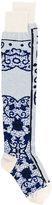 Sacai mosaic intarsia socks