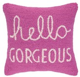 The Well Appointed House Hello Gorgeous Pink Hook Pillow - ON BACKORDER UNTIL 12/05/16