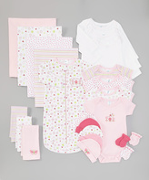 SpaSilk Pink Flowers 23-Piece Layette Set - Infant
