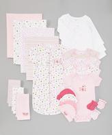 SpaSilk Pink Flowers 23-Piece Layette Set
