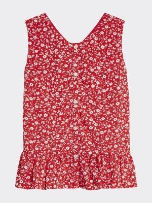 Tommy Hilfiger Viscose Floral Print Sleeveless Blouse