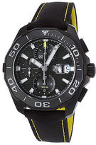 Tag Heuer CAY218A-FC6361 Men's Aquaracer Auto Chrono Black Nylon and Dial