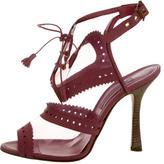 Oscar de la Renta PVC Peep-Toe Ankle Boots