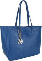 Mkf Collection By Mia K. MKF Collection by Mia K. Women's Handbags Royal - Royal Blue Croc-Embossed Sadie Tote
