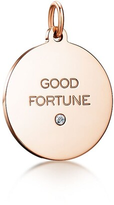 "Tiffany & Co. Charms ""Good Fortune"" tag in 18k rose gold with a diamond, medium"
