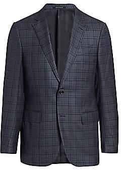 Ermenegildo Zegna Men's Plaid Wool Single-Breasted Jacket