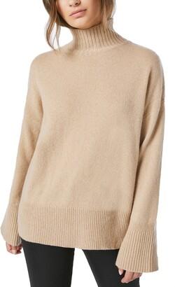 Frame High/Low Cashmere Turtleneck Sweater