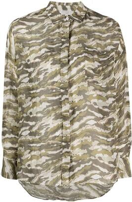 Antonelli Camouflage-Print Long-Sleeved Shirt