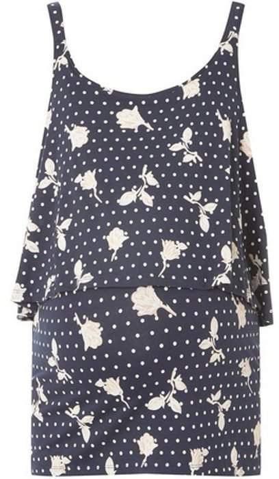 Mama Licious Womens **Mamalicious Maternity Navy Floral Jersey Top