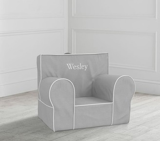 Pottery Barn Kids My First Gray with White Piping Anywhere Chair Slipcover Only