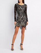 Charlotte Russe Eyelash Lace Bodycon Dress