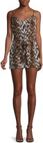 L'Agence Audra Sleeveless Leopard-Print Silk Romper