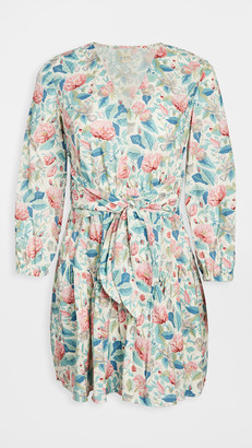 La Vie Rebecca Taylor Long Sleeve Paint Garden Dress