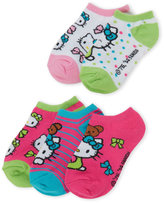 Hello Kitty Toddler Girls) 5-Pack Character No Show Socks
