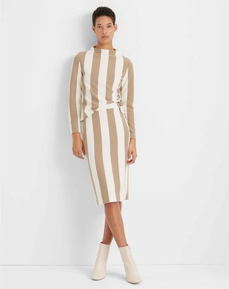 Club Monaco Striped Pencil Skirt