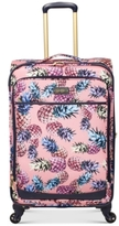 """Jessica Simpson Pineapple 25"""" Expandable Spinner Suitcase"""