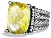 David Yurman Wheaton Ring with Lemon Citrine and Diamonds