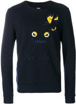 Fendi frog embroidered sweatshirt
