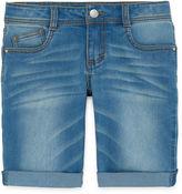 Total Girl Denim Bermuda Shorts - Girls 7-16 and Plus