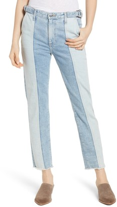 AG Jeans Isabelle High Waist Crop Straight Jeans