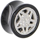 Body Candy Black Acrylic Sports Car Wheel Frame Saddle Plug (1 Piece) 20mm