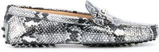 Tod's Gommino snake print driving shoes