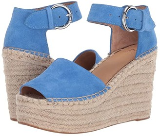 Marc Fisher Alida Espadrille Wedge (Black Suede) Women's Shoes