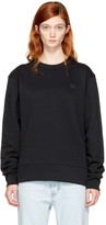 Acne Studios Black Fairview Face Sweatshirt