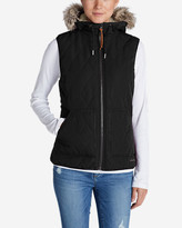 Eddie Bauer Women's Snowfurry Hooded Vest