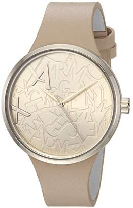 Armani Exchange Women's AX4506 Gold Leather Watch