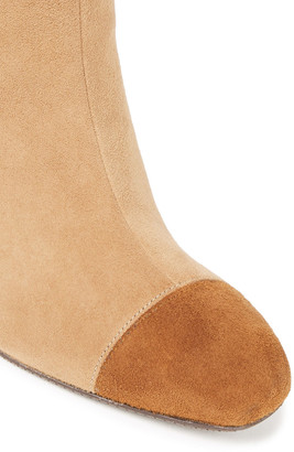 Stuart Weitzman Kimberly Two-tone Suede Over-the-knee Boots