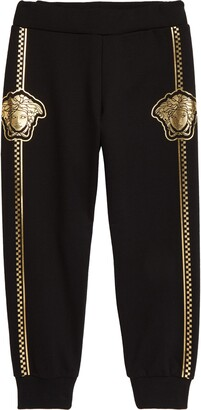 Versace Metallic Medusa Head Cotton Joggers