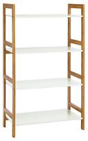 Habitat Drew 4 Shelf Bamboo Bookcase - White