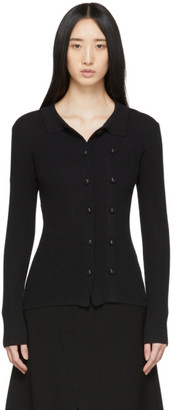 CHRISTOPHER ESBER Black Double-Button Cardigan