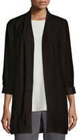 Eileen Fisher Silk Georgette Kimono Jacket, Plus Size