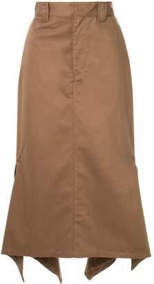 G.V.G.V. Handkerchief hem chino skirt