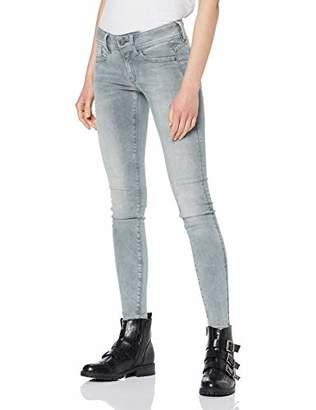 G Star Women's Lynn Mid Skinny Wmn New Jeans, Grey (Faded Lt Aged A691) W34/L30 (Size: 34/30)