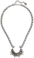Dannijo Urchin Oxidized Silver-plated Swarovski Crystal Necklace - One size