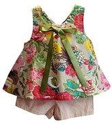 Baby Floral Clothes,Orangeskycn 2PCS Toddler Kids Girls Outfit Clothes Floral Vest T-shirt+Shorts Pants Set (2/3T, Green)