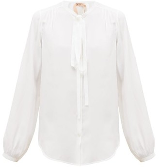 No.21 No. 21 - Tie-neck Crepe Blouse - Womens - White