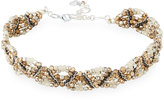 Nakamol Beaded Multi-Row Choker Necklace, Brown