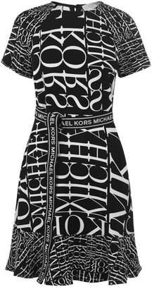 MICHAEL Michael Kors Short Sleeve Print Dress