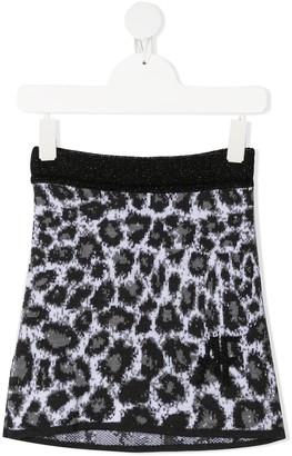 Alberta Ferretti Kids Leopard Print Knitted Skirt
