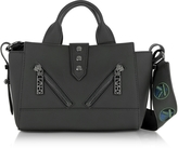 Kenzo Kalifornia Black Gommato Leather Mini Tote Bag w/Animated Strap